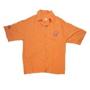 unisex viskon gömlek turuncu